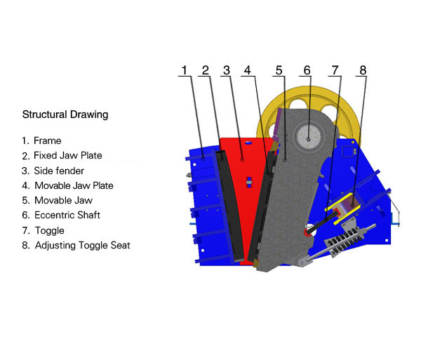 jaw crusher structural drawing